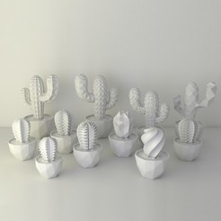 Download free 3D printer files VECTARY succulent family, VECTARY