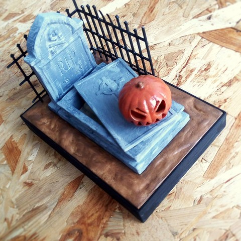 IMG_20171026_090127.jpg Download free STL file Halloween Grave • 3D print model, X3RPM