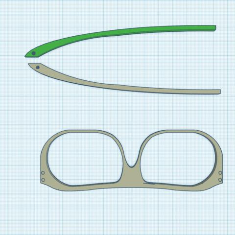 Free 3d printer model Kingsman Glasses, HagridleVrai