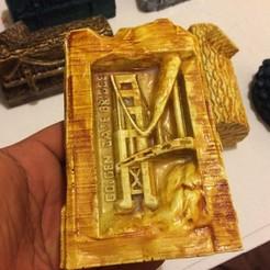 3d printer designs Goldengate bridge, subashkkc