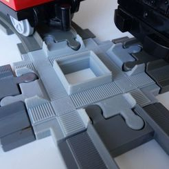 3D printing model DUPLO 4646 TRAIN TRACK CROSSING 90 DEGRees, markosaurus