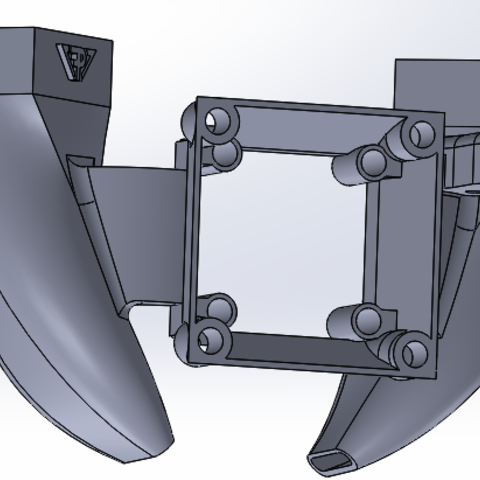 Chariot x - support turbine v2.PNG Download free STL file FAN SUPPORT FOR TEVO TARANTULA V.2 • 3D printer model, Fabplast3d