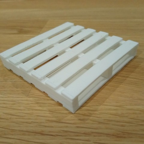 Download free 3D printing designs Pallet for agglo or breeze block 1/14, izidor07