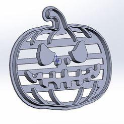 Descargar diseños 3D Cortador de galletas de calabaza para Halloween, Denys83