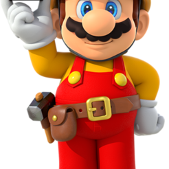 hero-mario.png Download STL file Mario Maker • 3D printing template, luis_torres012