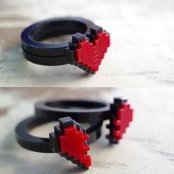 Download 3D printer files Heart 8 bits, luis_torres012