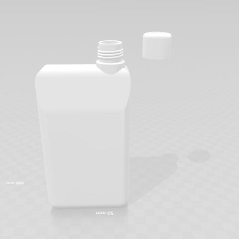 Free Hand bottle STL file, luis_torres012