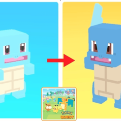 STL files SQUIRTLE AND ITS 8-BIT EVOLUTIONS, luis_torres012