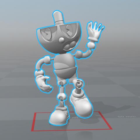 Cuphead 2.0 Versión Final (3) - 5.png Download STL file Cuphead - Action Figure • 3D print object, luis_torres012