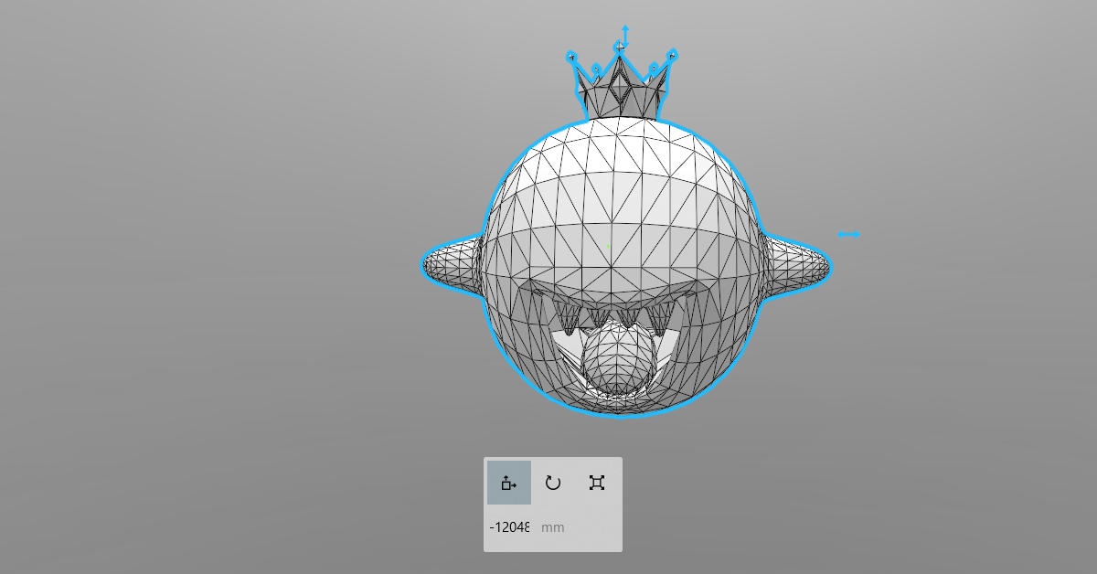 01.png Download STL file King Boo • 3D printable template, luis_torres012
