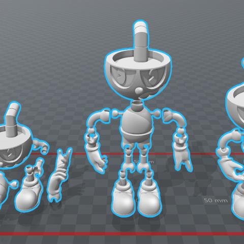 Cuphead 2.0 Versión Final (1-2-3).png Download STL file Cuphead - Action Figure • 3D print object, luis_torres012