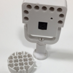 Free Raspberry Pi Camera Mount with LED 3D model, irblinx