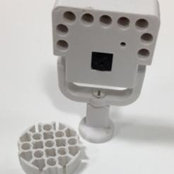 Impresiones 3D gratis Montaje de cámara Raspberry Pi con LED, irblinX