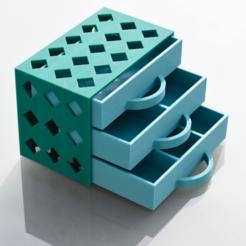 archivos stl Nuevo cajón de piezas gratis, irblinX