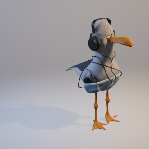 mouette 6.png Download STL file Gull with helmet • 3D printer template, jojoilo