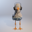 mouette 5.png Download STL file Gull with helmet • 3D printer template, jojoilo
