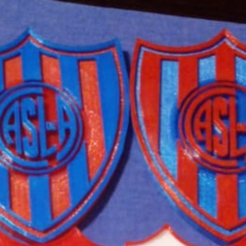 Escudo de San Lorenzo.png Télécharger fichier 3MF Les armoiries de Saint-Laurent • Objet à imprimer en 3D, Santiago7