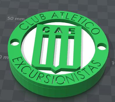Escudo3.png Download STL file Hikers' Club Shield • 3D printable design, Santiago7