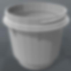 STL file Machine cup with thread, Santiago7