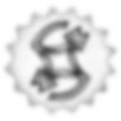 Download 3D printing templates El Bordo Logo, Santiago7