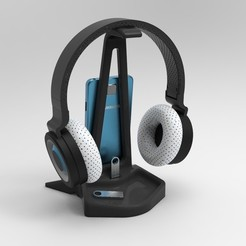untitled.104.jpg Download STL file Headset Stand • 3D print model, marinmau