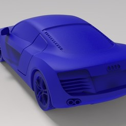 5.jpg Download STL file Audi R8 1/18 • 3D print template, marinmau