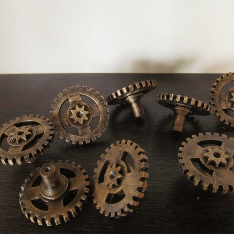 Free 3d printer designs Steampunk Handles, caramellcube