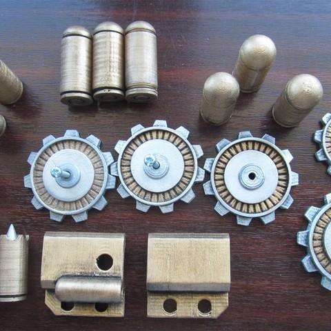 bioshock_parts.jpg Download free STL file Bioshock pistol parts • 3D printable model, caramellcube