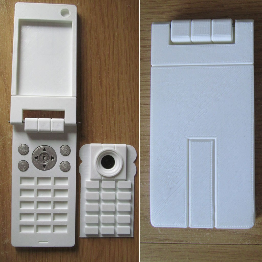 YG_phone_001.jpg Télécharger fichier STL gratuit Yuno Gasai téléphone • Modèle imprimable en 3D, caramellcube