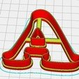 """Descargar diseños 3D FORMULARIOS PARA COOKIES """"LETRAS Y NÚMEROS"""", wer2"""