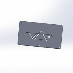 PLAQUE LOGO.JPG Download STL file Steve VAI Logo Plate • 3D printing model, alexandre4