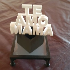 Download STL file 10 HAPPY MOM'S DAY, HAPPY MOM'S DAY, TOPPER MOM'S DAY, TORTA, • Model to 3D print, MADMETAL