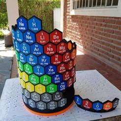 archivos stl 3D Periodic Table gratis, EzeSko