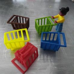 Download 3D print files Shopping Trolley LEGO scale, simplr