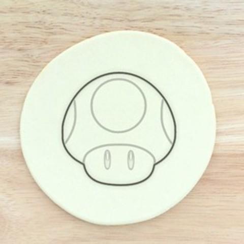 Descargar Modelos 3D para imprimir gratis Super Mario cortador de galletas de setas, AmineZed