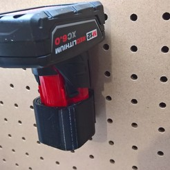 WP_20180605_14_48_39_Pro.jpg Download free STL file milwaukee m12 battery pegboard hanger • 3D printable design, Punisher_4u