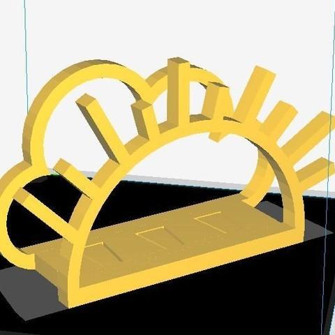 STL Cloud & SUN  Napkin Holder, JOYs-3D