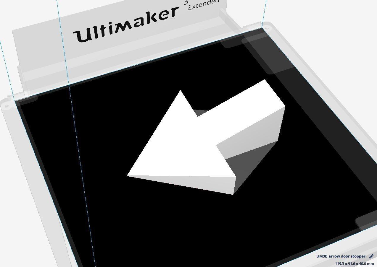 arrow door stopper1.JPG Download STL file arrow door stopper • 3D printer object, JOYs-3D