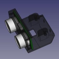 Soporte-Sensor-ultrasonido00.jpg Download free STL file Ultrasonic Sensor Support for Robots • 3D printing design, Loren