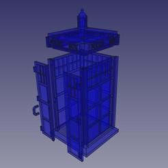 tardis piezas.jpg Download STL file Tardis, Dr Who • 3D printing design, Loren