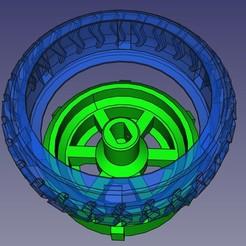 Rueda-robot-2-materiales00.jpg Download free STL file Robot wheel in two materials • 3D printing model, Loren
