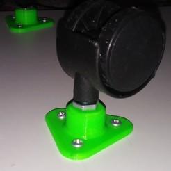 Descargar diseños 3D gratis Anclaje rueda loca para plataforma, Loren