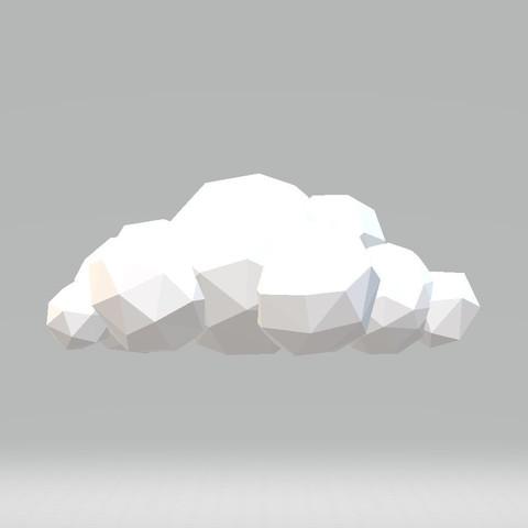 Free stl file low poly cloud cults for Createur 3d