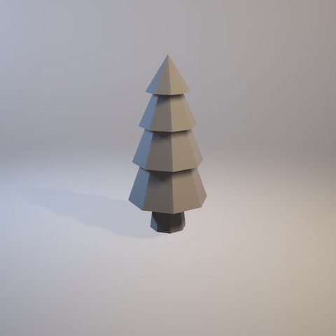 free 3d print files low poly tree engineerk - Polytree Christmas Tree