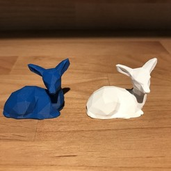 Download free 3D printing templates Low Poly Fawn, EngineerK