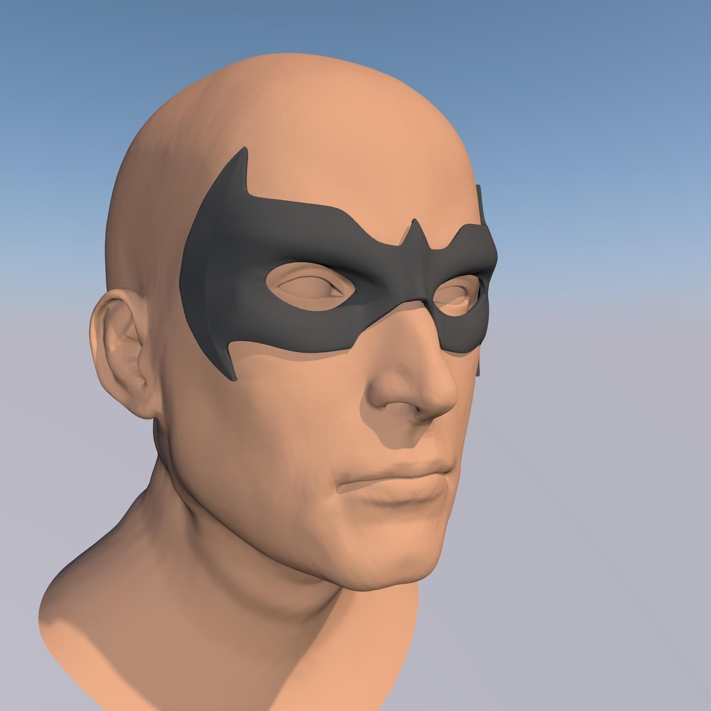 antifaz 5.jpg Download STL file MASK NIGHTWING REBIRTH 1.0 • Template to 3D print, ArtViche