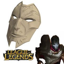 4.jpg Télécharger fichier STL Jhin / masque de la ligue des légendes • Plan imprimable en 3D, ArtViche