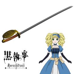 Sin título-1.png Télécharger fichier STL L'épée d'Elizabeth Midford de l'anime kuroshitsuji • Modèle imprimable en 3D, ArtViche