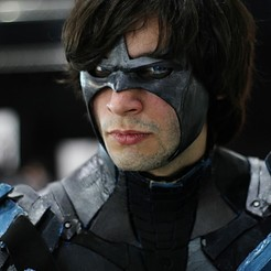Descargar diseños 3D gratis mask nightwing batman arkham knight, bohemianwolf