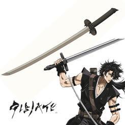 1.jpg Télécharger fichier STL Katana de Yuzo dans l'anime Gibiate • Plan pour impression 3D, ArtViche